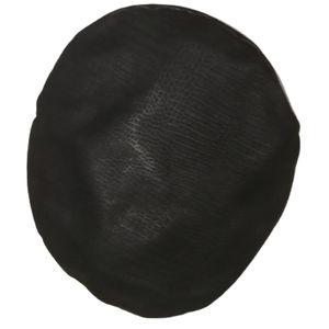 3/30$ VINTAGE Black Leather & Fur Beret